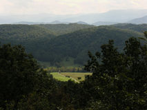 Mountain Overlook. Horizional of mountain overlook of Smokey Mountains, Eastern Tennessee Royalty Free Stock Photography