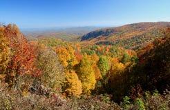 Mountain Overlook in Autumn Royalty Free Stock Photos