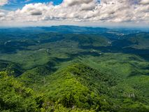 Mountain Overlook, Smoky Mountains Vista Royalty Free Stock Photos