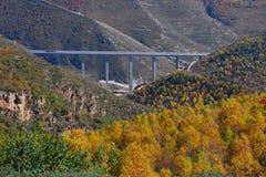 Mountain overpass Royalty Free Stock Photos