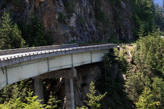 Mountain Overpass. Highway overpass in the mountains in Washington state Royalty Free Stock Photo