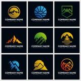 Mountain Pack Creative Logo Design Concept Vector Template vector illustration