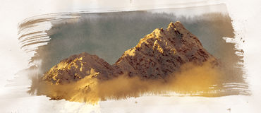 Mountain Painting Royalty Free Stock Photos