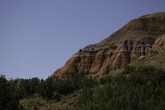 Mountain in Palo Duro Canyon Stock Images
