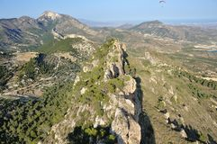 Mountain Palomaret in Spain Royalty Free Stock Photos