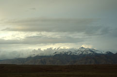 The Mountain in the pamirs Stock Image