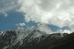 The Mountain in the pamirs Stock Photos