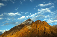 The Mountain in the pamirs Royalty Free Stock Photo