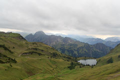 Mountain panaroma with lake Royalty Free Stock Photos