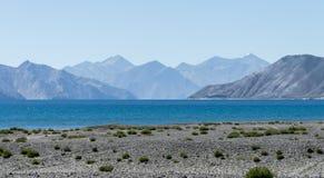 Mountain at Pangong lake, Leh Ladakh India Aug 2017. During sunrise Royalty Free Stock Image