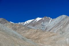 Mountain at Pangong lake, Leh Ladakh India Aug 2017. During sunrise Stock Photo