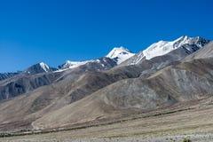 Mountain at Pangong lake, Leh Ladakh India Aug 2017. During sunrise Stock Image
