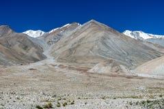 Mountain at Pangong lake, Leh Ladakh India Aug 2017. During sunrise Royalty Free Stock Photo