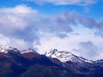Mountain panorama. A shot of the Italian Alps royalty free stock photography