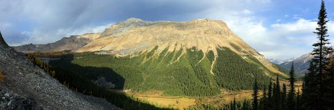 A mountain panorama royalty free stock photos