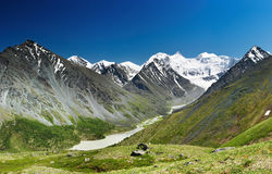 Mountain panorama. Belukha- the highest peak of Siberia Stock Image
