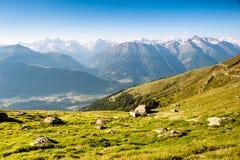 Mountain panorama. From fiescheralp, wallis, switzerland stock photos