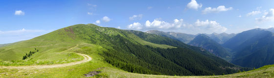 Mountain panorama. On a sunny summer day Royalty Free Stock Images