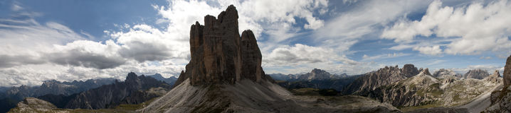 Mountain panorama 3 tre cime lavaredo drei zinnen Stock Photos