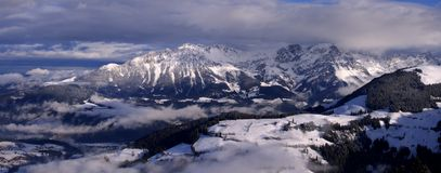 Mountain panorama. Showing Austrian Alps Royalty Free Stock Photos