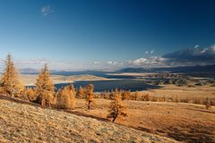 Mountain panorama. The vast expanse Stock Photography