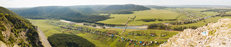 Mountain panorama. With aerial perspective Stock Photo