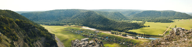 Mountain panorama. With aerial perspective Royalty Free Stock Photo