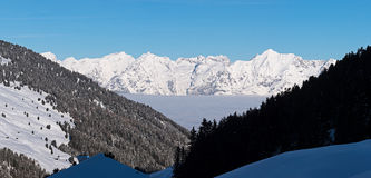 Mountain panorama in the Alps Royalty Free Stock Photo