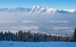 Mountain panorama in the Alps Royalty Free Stock Images