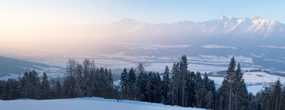 Mountain panorama in the Alps Royalty Free Stock Image