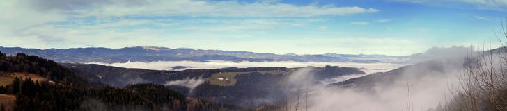 Mountain panorama in austria alps Carinthia Royalty Free Stock Photography