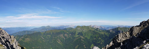 Mountain panorama, Austria Royalty Free Stock Photo