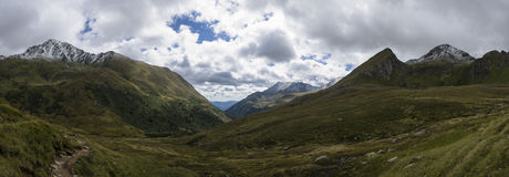 Mountain panorama. In the Austrian alps Royalty Free Stock Photo