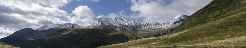 Mountain panorama. In the Austrian alps Royalty Free Stock Images