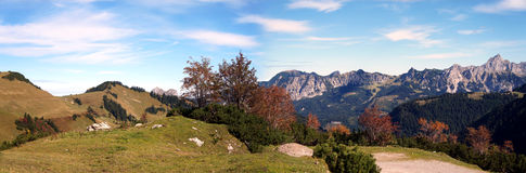 Mountain panorama in autumn Royalty Free Stock Photography