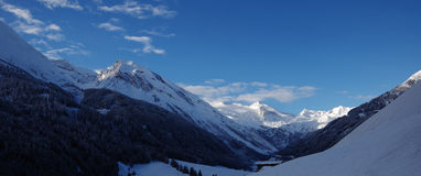 Mountain panorama. With blue sky - Zillertal, Austria Stock Images