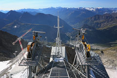 Mountain  panorama from cable car building Stock Image