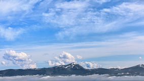 A mountain panorama - Carpathians Royalty Free Stock Photography