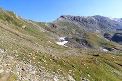Mountain panorama with col Lobbentorl, Hohe Tauern Alps, Austria Stock Photos