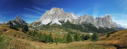 Mountain panorama in Dolomites Royalty Free Stock Photo