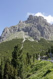 Mountain panorama of the Dolomites. In summer Stock Image