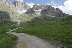 Mountain panorama of the Dolomites. In summer Royalty Free Stock Photos