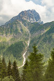 Mountain panorama of the Dolomites. In summer Royalty Free Stock Image