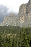Mountain panorama of the Dolomites. In summer Stock Photos