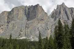 Mountain panorama of the Dolomites. In summer Stock Images
