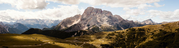 Mountain Panorama - Dolomiti, Italy Stock Photography