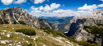 Mountain Panorama - Dolomiti, Italy Royalty Free Stock Photo