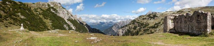 Mountain Panorama - Dolomiti, Italy Royalty Free Stock Images