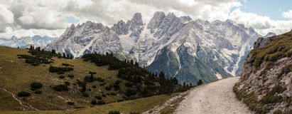 Mountain Panorama - Dolomiti, Italy Royalty Free Stock Photos