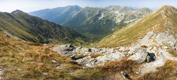 Mountain panorama with foreground Royalty Free Stock Photography